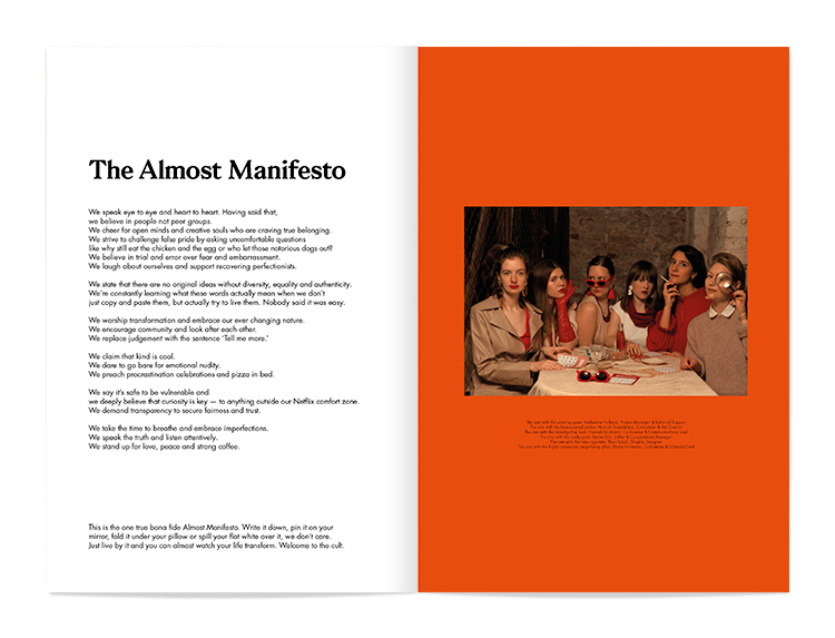 Almost 30 Magazine Issue 02 spread layout